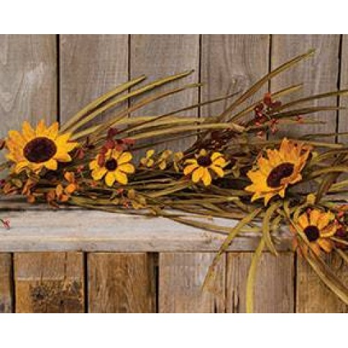 Guirlande de fleurs de tournesol for Fenetre factice lumineuse