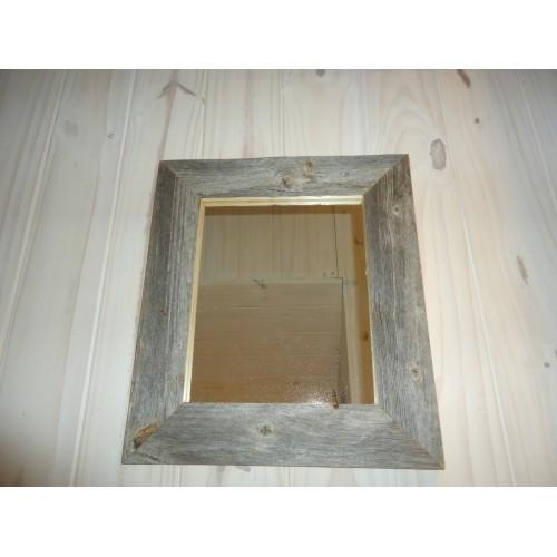 Miroir en bois de grange for Miroir bois de grange