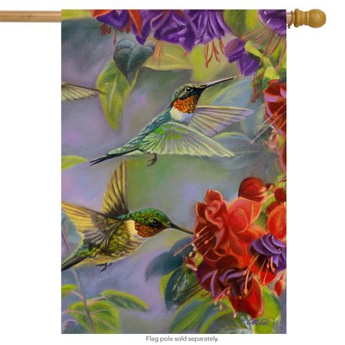 Drapeau d'été avec colibris