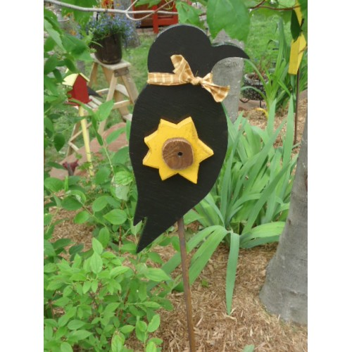 Piquet de jardin corbeau for Piquet decoratif jardin