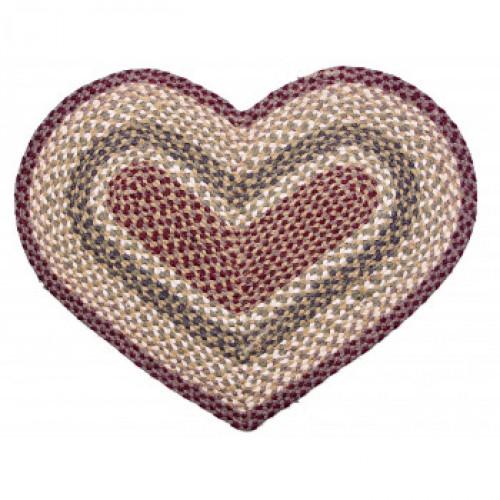 Tapis en forme de coeur