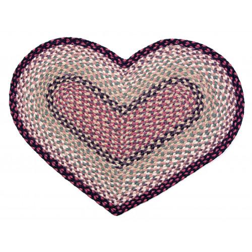 Tapis tressé en forme de coeur