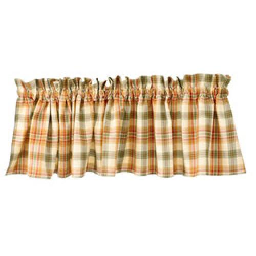 Cantonnière en tissu motif à carreaux